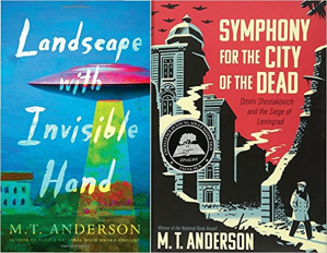 MT Anderson book covers